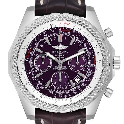 Photo of Breitling Bentley Purple Dial Chronograph Steel Mens Watch A25362