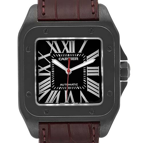 Photo of Cartier Santos 100 Carbon ADLC coated Steel Mens Watch WSSA0006 Unworn