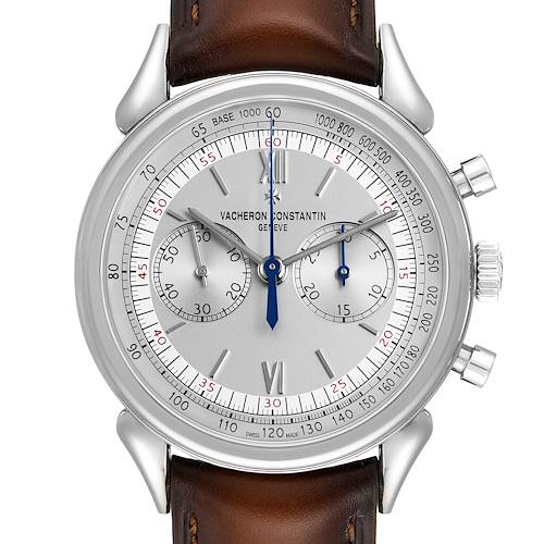 Vacheron Constantin 1955 Cornes de Vache Steel Mens Watch 5000H Box Papers