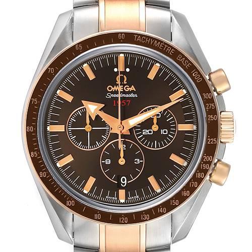 Photo of Omega Speedmaster Broad Arrow Steel Rose Gold Watch 321.90.42.50.13.001 Unworn
