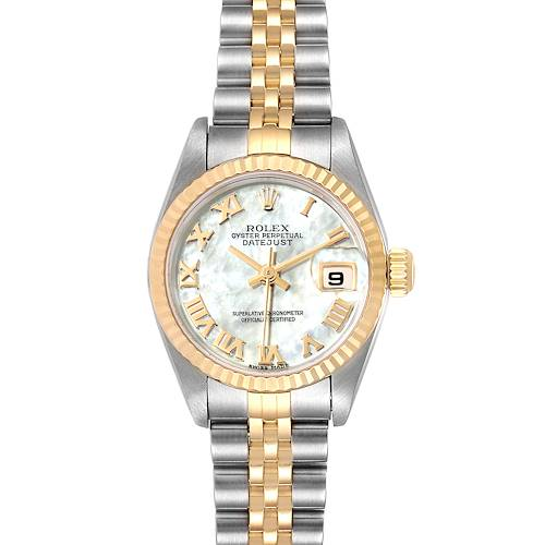 Photo of Rolex Datejust Steel Yellow Gold MOP Ladies Watch 79173 Box Papers