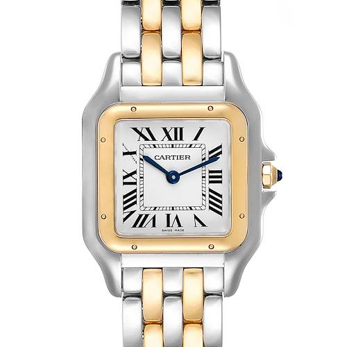 Photo of Cartier Panthere Ladies Steel Yellow Gold 2 Row Watch W2PN0007 Box Papers