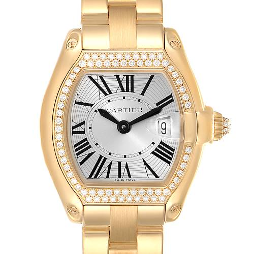 Photo of Cartier Roadster Ladies 18K Yellow Gold Diamond Ladies Watch WE5001X1
