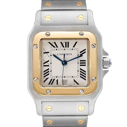 Photo of Cartier Santos Galbee Large Steel Yellow Gold Unisex Watch W20011C4