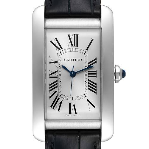 Photo of Cartier Tank Americaine Steel Large Silver Dial Mens Watch WSTA0018