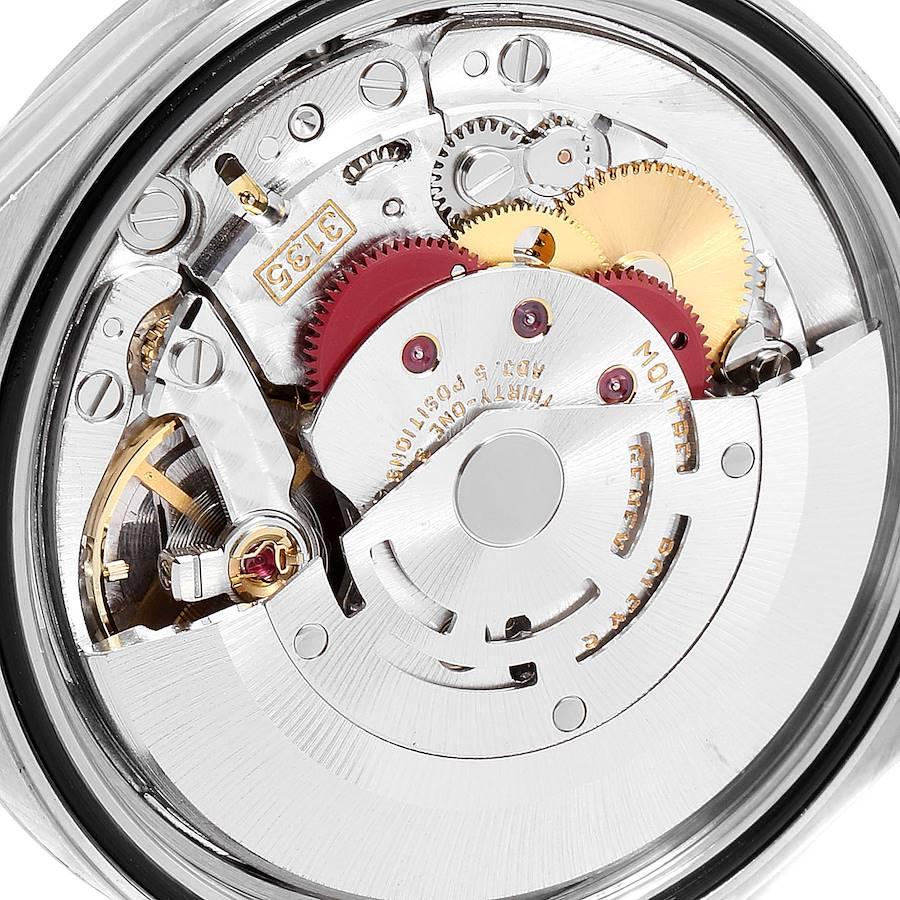 Rolex Datejust Steel White Gold Silver Diamond Dial Mens Watch 16234 SwissWatchExpo