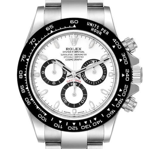 Photo of Rolex Daytona Ceramic Bezel White Dial Steel Mens Watch 116500 Unworn