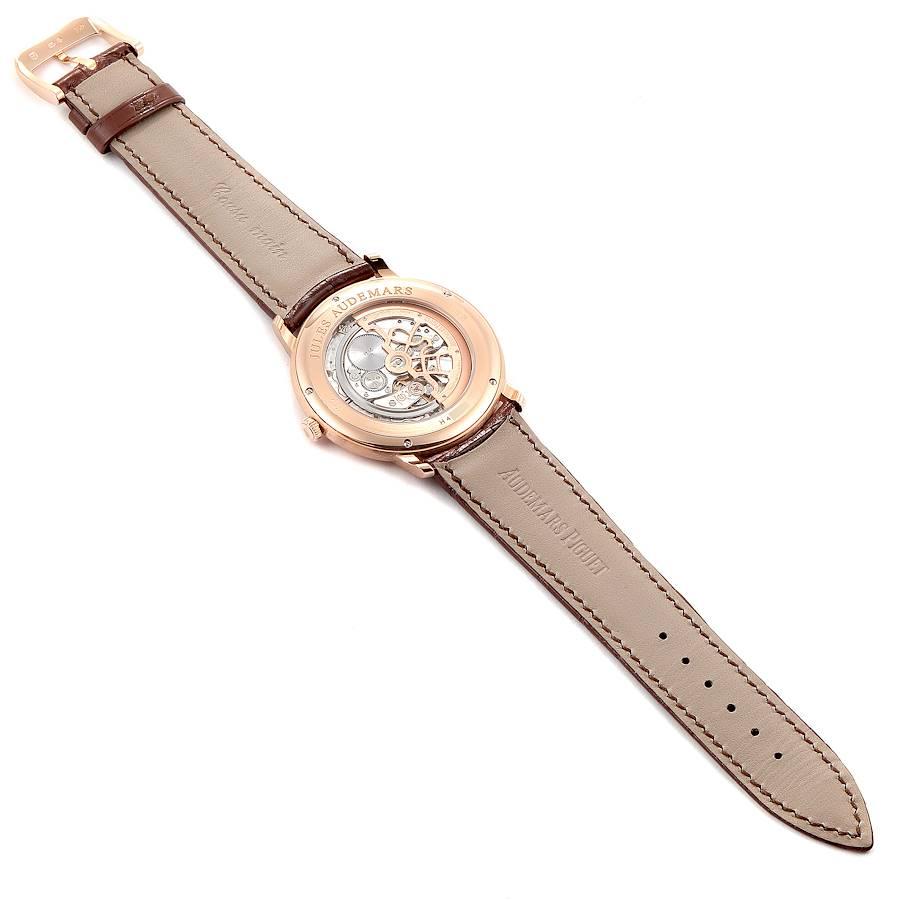 Audemars Piguet Jules Extra Thin Automatic Rose Gold Mens Watch 15180 SwissWatchExpo