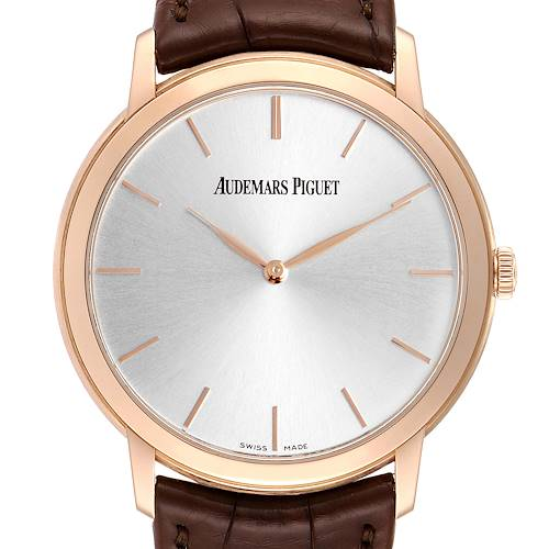Photo of Audemars Piguet Jules Extra Thin Automatic Rose Gold Mens Watch 15180