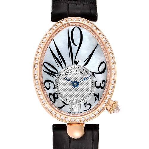 Breguet Reine de Naples Rose Gold MOP Diamond Ladies Watch 8818