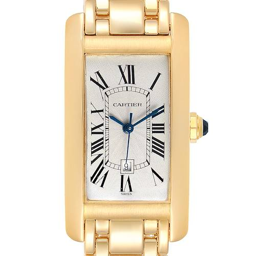 Photo of Cartier Tank Americaine Midsize Yellow Gold Automatic Ladies Watch 1725