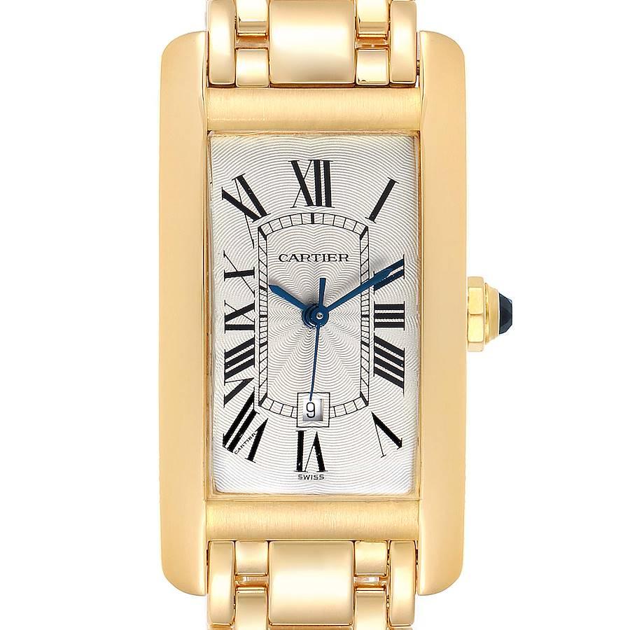 Cartier Tank Americaine Midsize Yellow Gold Automatic Ladies Watch 1725 SwissWatchExpo