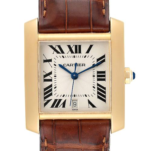 Photo of Cartier Tank Francaise Large Yellow Gold Automatic Mens Watch W5000156