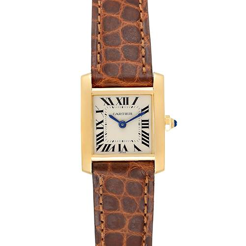 Photo of Cartier Tank Francaise Yellow Gold Quartz Ladies Watch W5000256