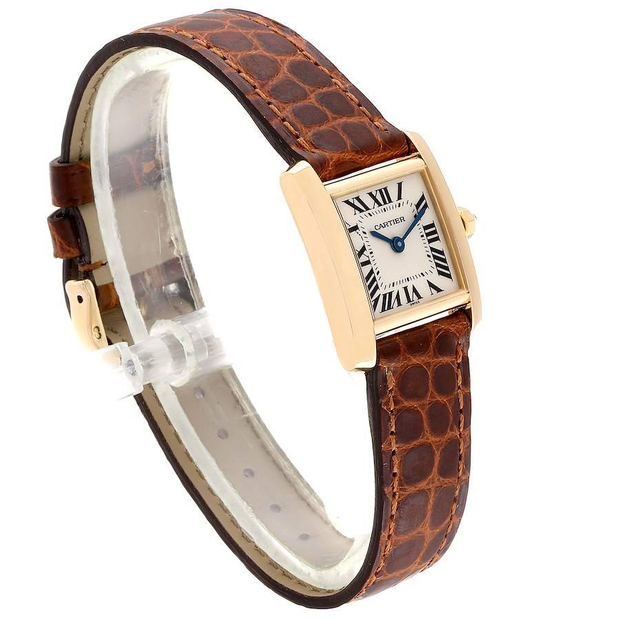 Cartier Tank Francaise Yellow Gold Quartz Ladies Watch W5000256 SwissWatchExpo
