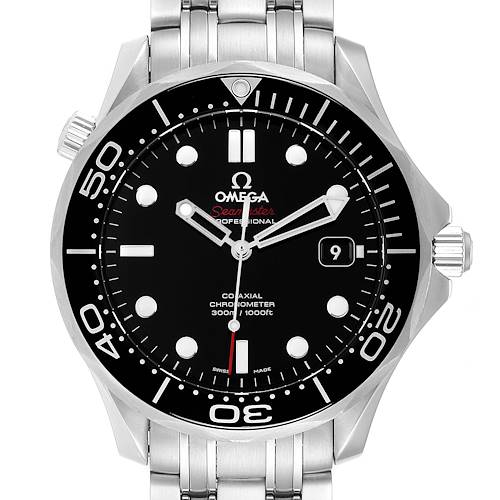 Photo of Omega Seamaster 40 Co-Axial Black Dial Mens Watch 212.30.41.20.01.003