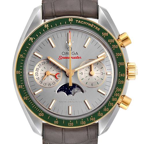 Photo of Omega Speedmaster Moonphase Steel Yellow Gold 304.23.44.52.06.001 Box Card
