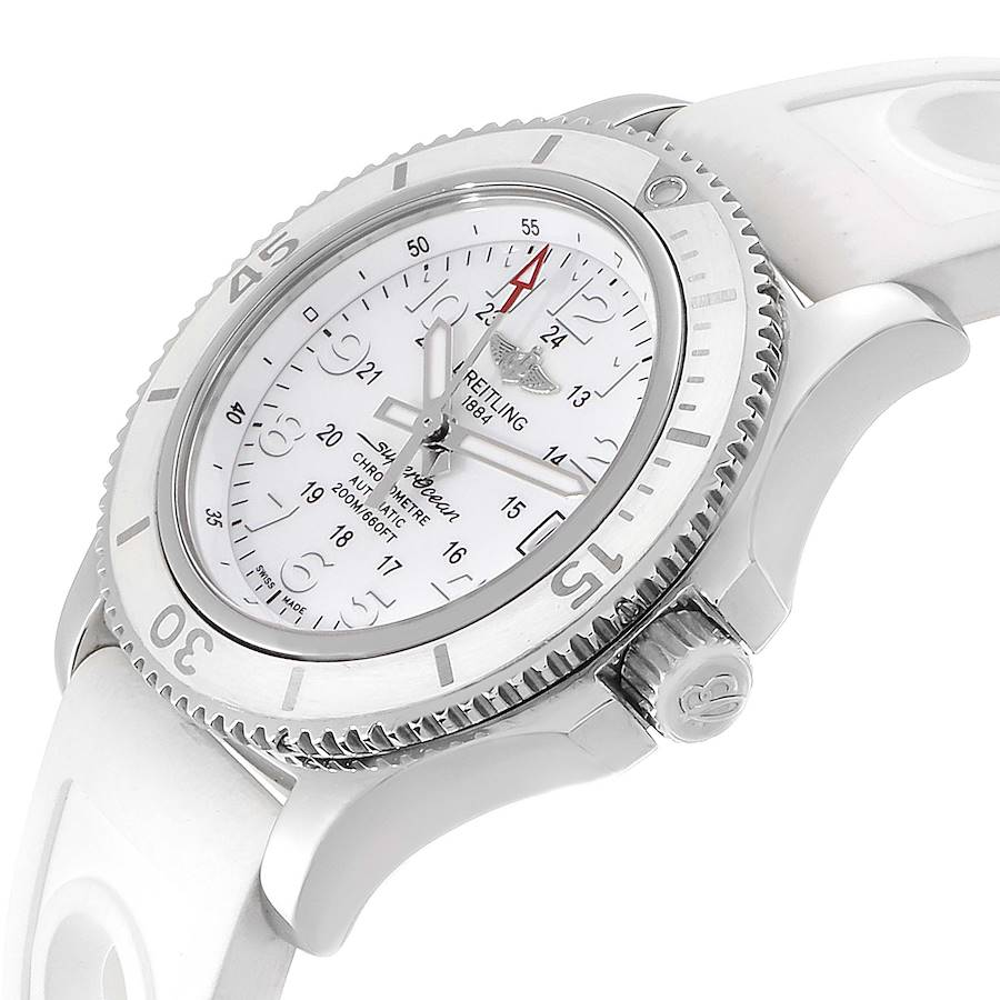 Breitling Superocean II 36 Hurricane White Dial Ladies Watch A17312 SwissWatchExpo