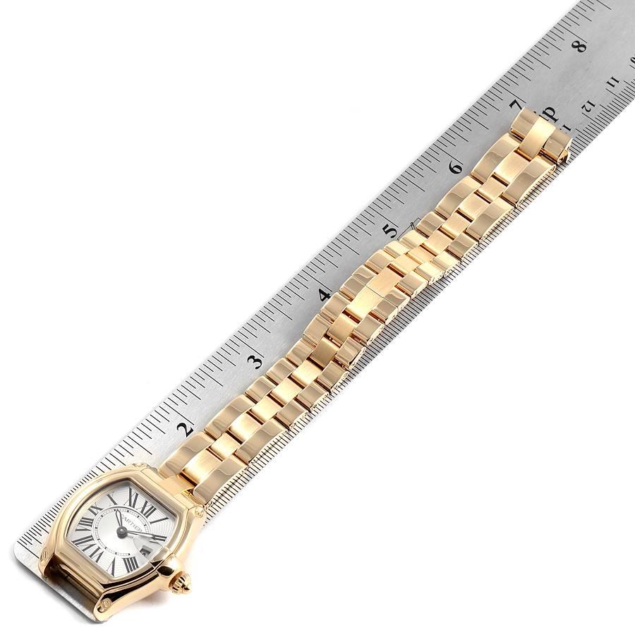 Cartier Roadster Ladies 18K Yellow Gold Ladies Watch W62018V1 SwissWatchExpo