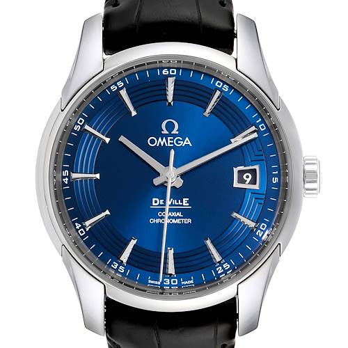 Photo of Omega DeVille Hour Vision Blue Dial Steel Mens Watch 431.33.41.21.03.001