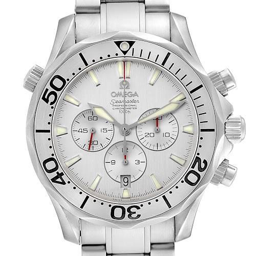 Photo of Omega Seamaster Silver Dial Special Edition Chronograph Watch 2589.30.00