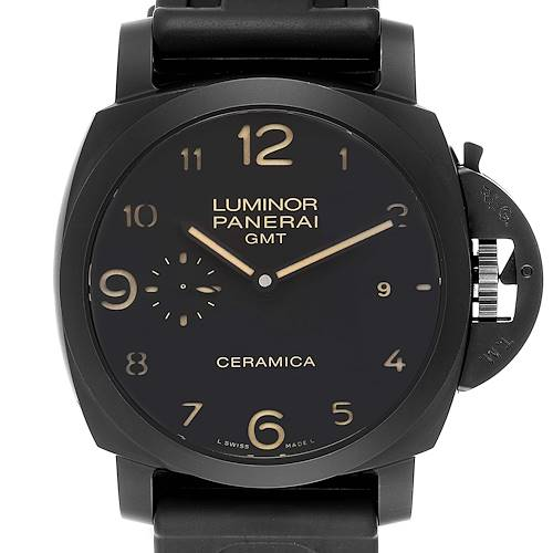 Photo of Panerai Luminor 1950 3 Days GMT Ceramic Limited Edition Watch PAM00441 Box