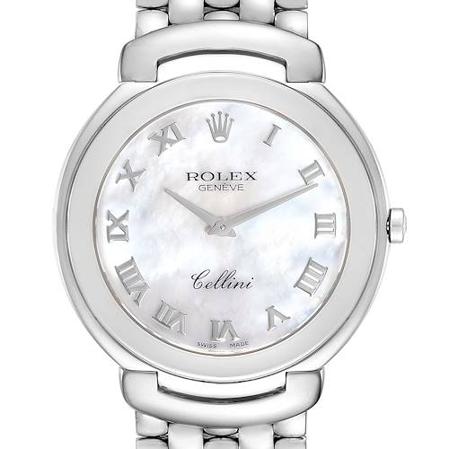 Photo of Rolex Cellini 18K White Gold Mother of Pearl Dial Mens Watch 6623
