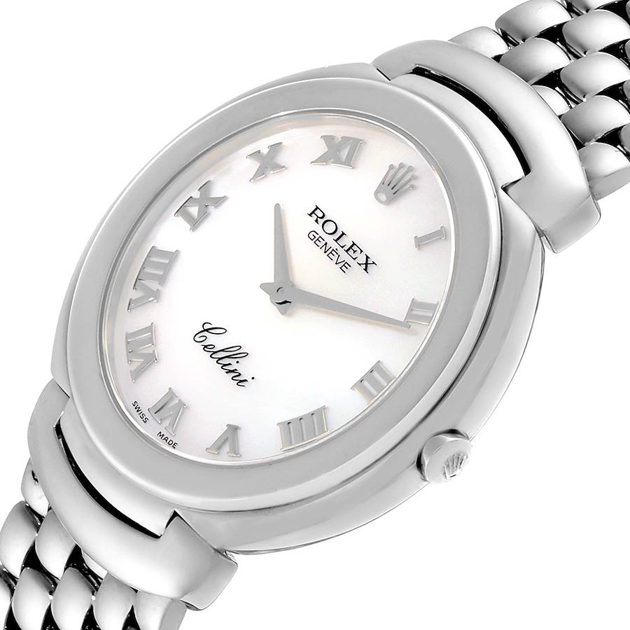 Rolex Cellini 18K White Gold Mother of Pearl Dial Mens Watch 6623 SwissWatchExpo