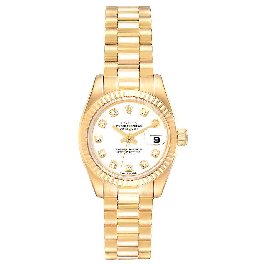 Rolex President Datejust Yellow Gold Diamond Ladies Watch 179178 Box SwissWatchExpo