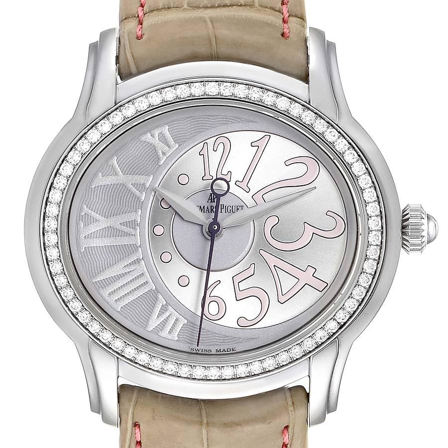 Audemars Piguet Millenary Steel Diamond Ladies Watch 77301ST SwissWatchExpo