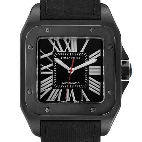 Photo of Cartier Santos 100 Carbon ADLC Coated Steel Mens Watch WSSA0006 Unworn