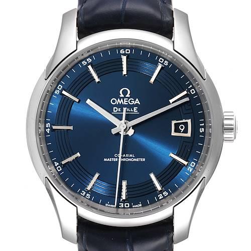 Photo of Omega DeVille Hour Vision Blue Dial Steel Watch 433.33.41.21.03.001 Unworn