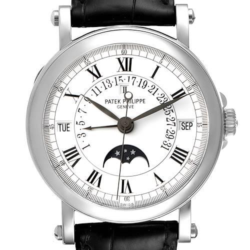 Photo of Patek Philippe Perpetual Calendar Retrograde 18k White Gold Mens Watch 5059