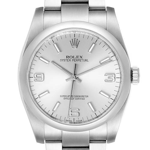 Photo of Rolex Oyster Perpetual 36 Silver Dial Steel Mens Watch 116000