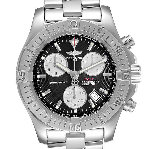 Photo of Breitling Colt Chronograph Silver Subdials Steel Mens Watch A73380