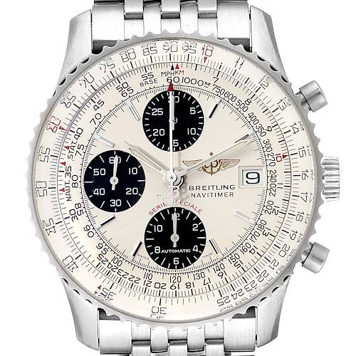 Photo of Breitling Navitimer Fighter Panda Dial Steel Watch A13330 Box Ppaers