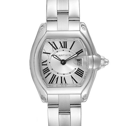 Photo of Cartier Roadster Silver Dial Small Model Steel Ladies Watch W62016V3 Box
