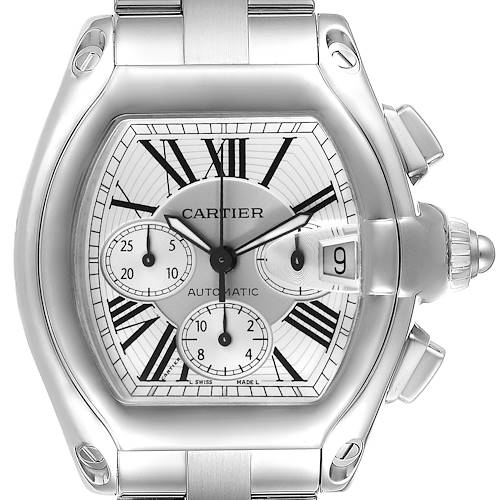 Photo of Cartier Roadster XL Chronograph Automatic Steel Mens Watch W62019X6