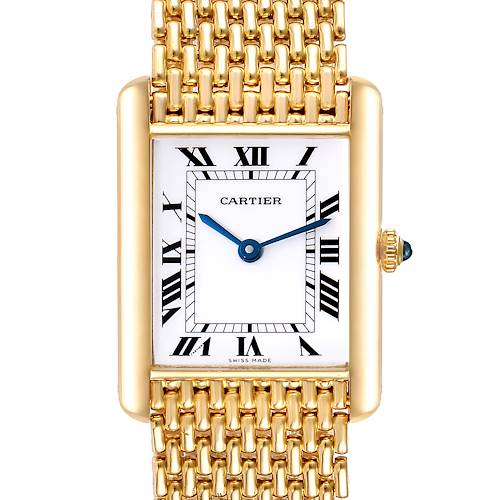 Photo of Cartier Tank Classic Paris Yellow Gold White Roman Dial Ladies Watch