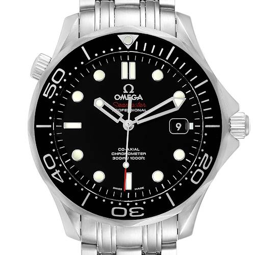 Photo of Omega Seamaster Co-Axial Black Dial Watch 212.30.41.20.01.003 Box Card