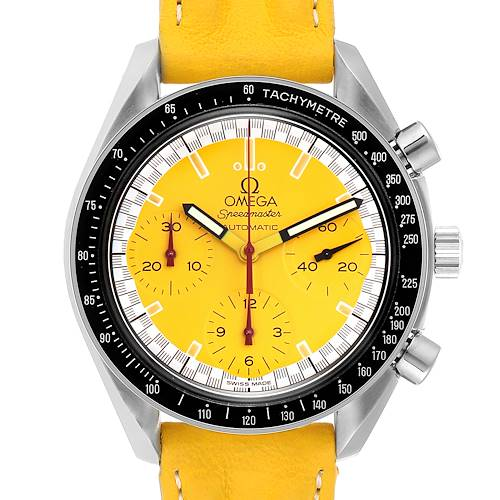 Photo of Omega Speedmaster Schumacher Yellow Dial Automatic Mens Watch 3810.12.40