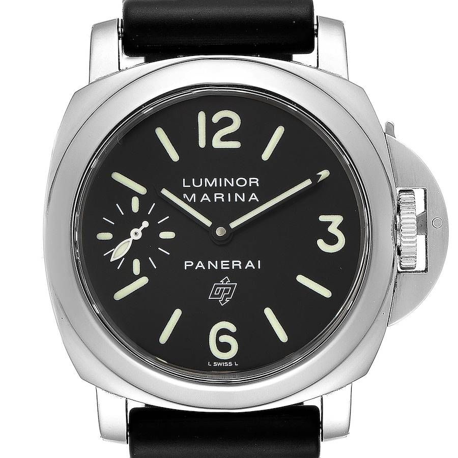 Panerai Luminor Base Logo 44mm Steel Mens Watch PAM000 PAM00000 SwissWatchExpo