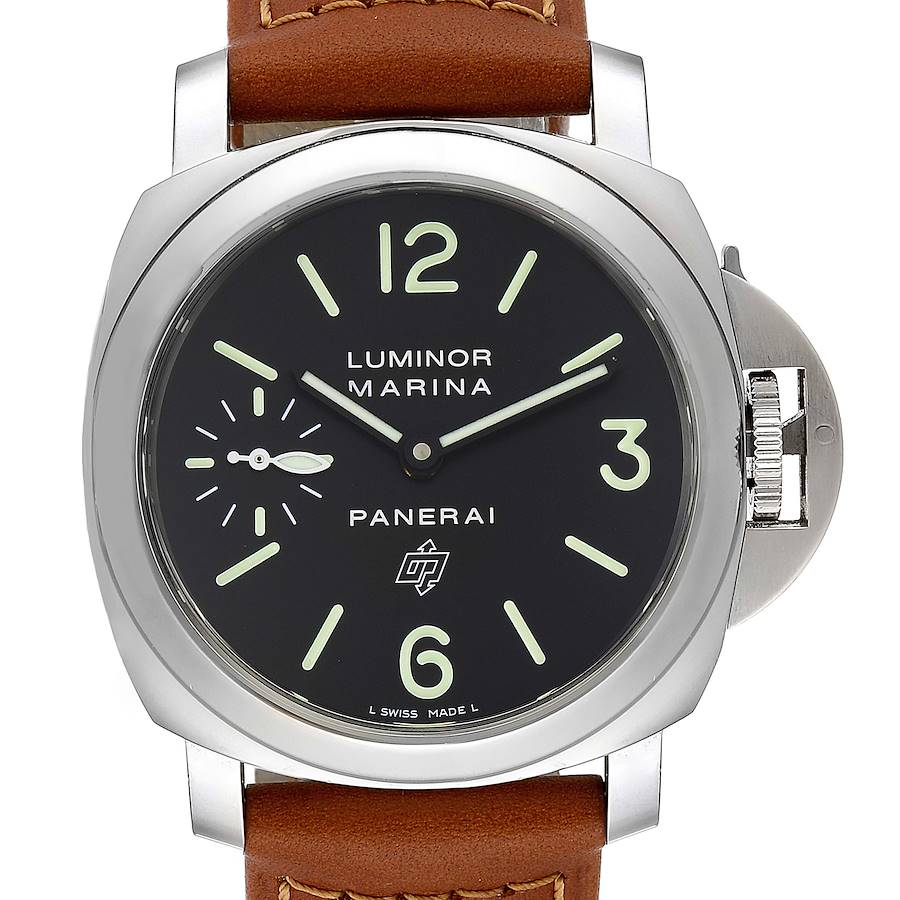 Panerai Luminor Base Logo 44mm Steel Mens Watch PAM01005  SwissWatchExpo
