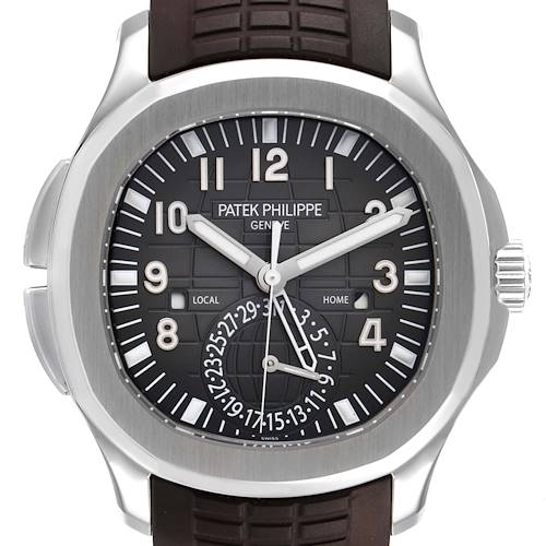 Photo of Patek Philippe Aquanaut Travel Time Steel Mens Watch 5164 Box Papers