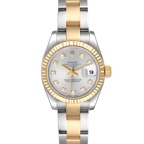 Photo of Rolex Datejust 26 Steel Yellow Gold Diamond Ladies Watch 179173 Box Papers