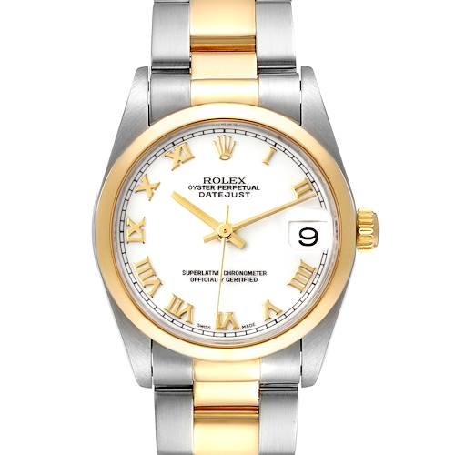 Photo of Rolex Datejust 31 Midsize Steel Yellow Gold White Dial Ladies Watch 78243