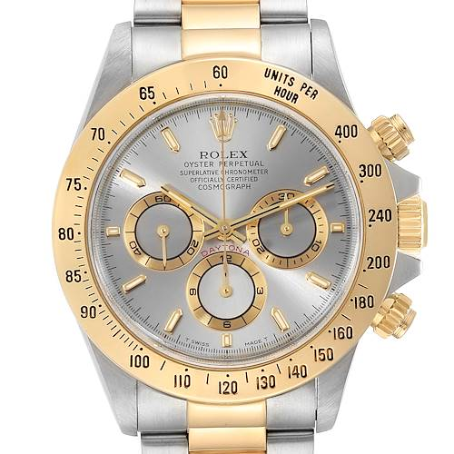 Photo of Rolex Daytona Steel Yellow Gold Slate Dial Mens Watch 116523 Box