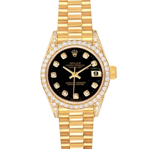 Photo of NOT FOR SALE Rolex President Datejust Yellow Gold Diamond Ladies Watch 69158 Box Papers PARTIAL PAYMENTS
