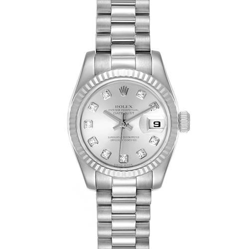 Photo of Rolex President Ladies White Gold Diamond Ladies Watch 179179
