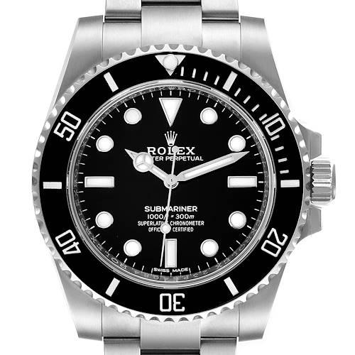 Photo of Rolex Submariner 40mm Black Dial Ceramic Bezel Steel Watch 114060 Unworn